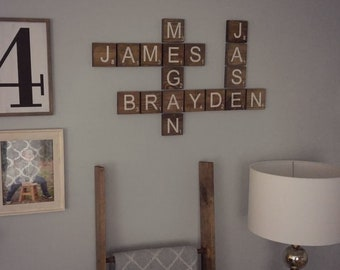 Crossword Name Sign Etsy