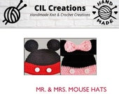 Mr. & Mrs. Mouse Hats Crochet Pattern Download