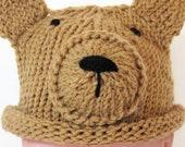 Baby Brown Bear Hat Knitted made to order in multiple sizes
