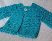 Baby Sweater Light Blue Classic Design