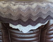 Handmade Knit Shawl In Multi Color Grays