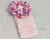 Girl's Pink Headband With Flower