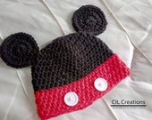 Mr. Mouse Character Hat made to order in multiple sizes