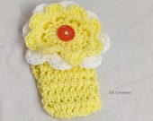 Girl's Yellow Headband With Flower