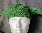 Baby Yoda Hat made to order in multiple sizes