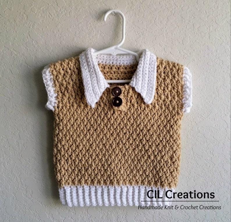 Handmade Crochet Sweater Vest for Toddler Boy image 0