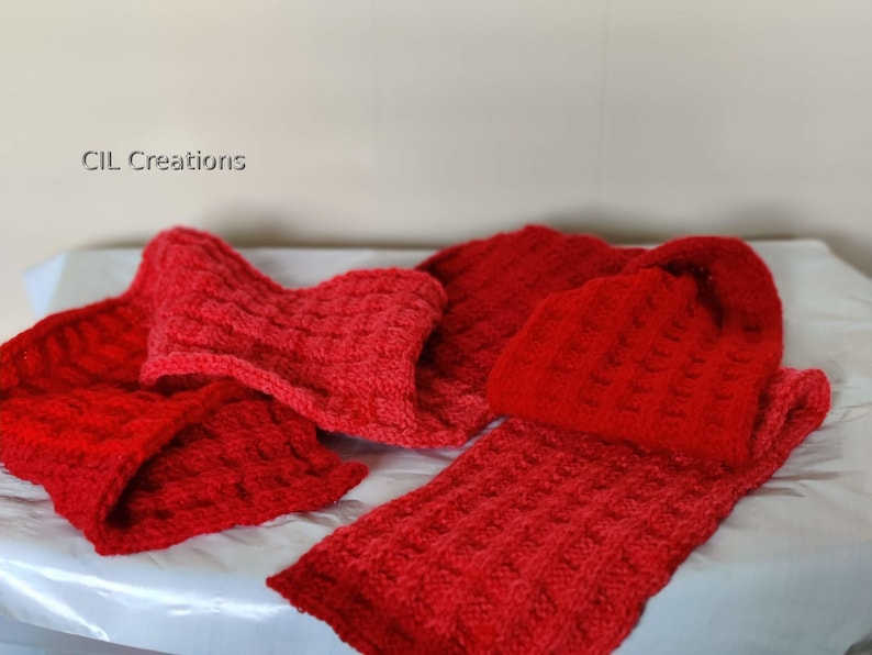 Scarf Handmade Cherry Colors Adult image 0