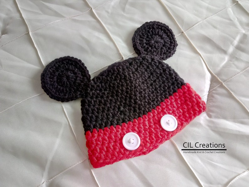 Mr. Mouse Character Hat made to order in multiple sizes image 0