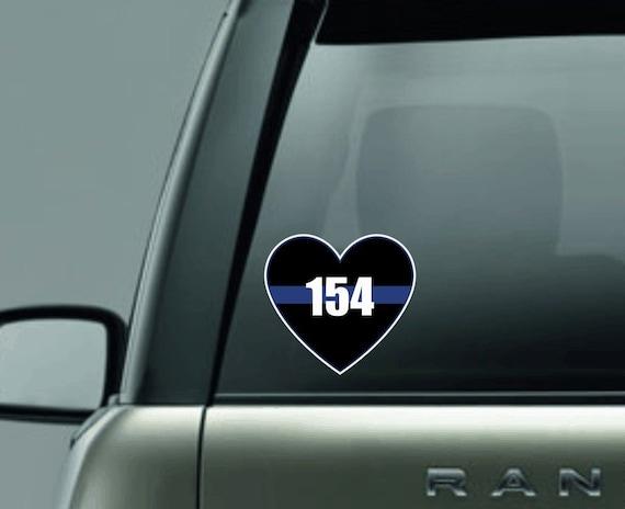 Personalisierte Polizei Herz Aufkleber Polizei Auto Aufkleber Polizei Unterstützen Aufkleber Dünne Blaue Linie Auto Aufkleber