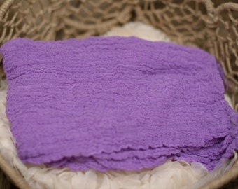 Purple People Eater Newborn Cheesecloth Wrap