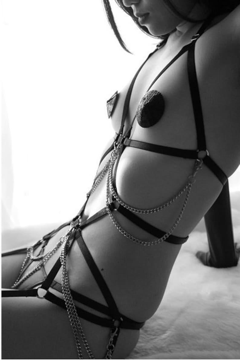 BDSM body harness erotic lingerie sexy fetish wear bondage