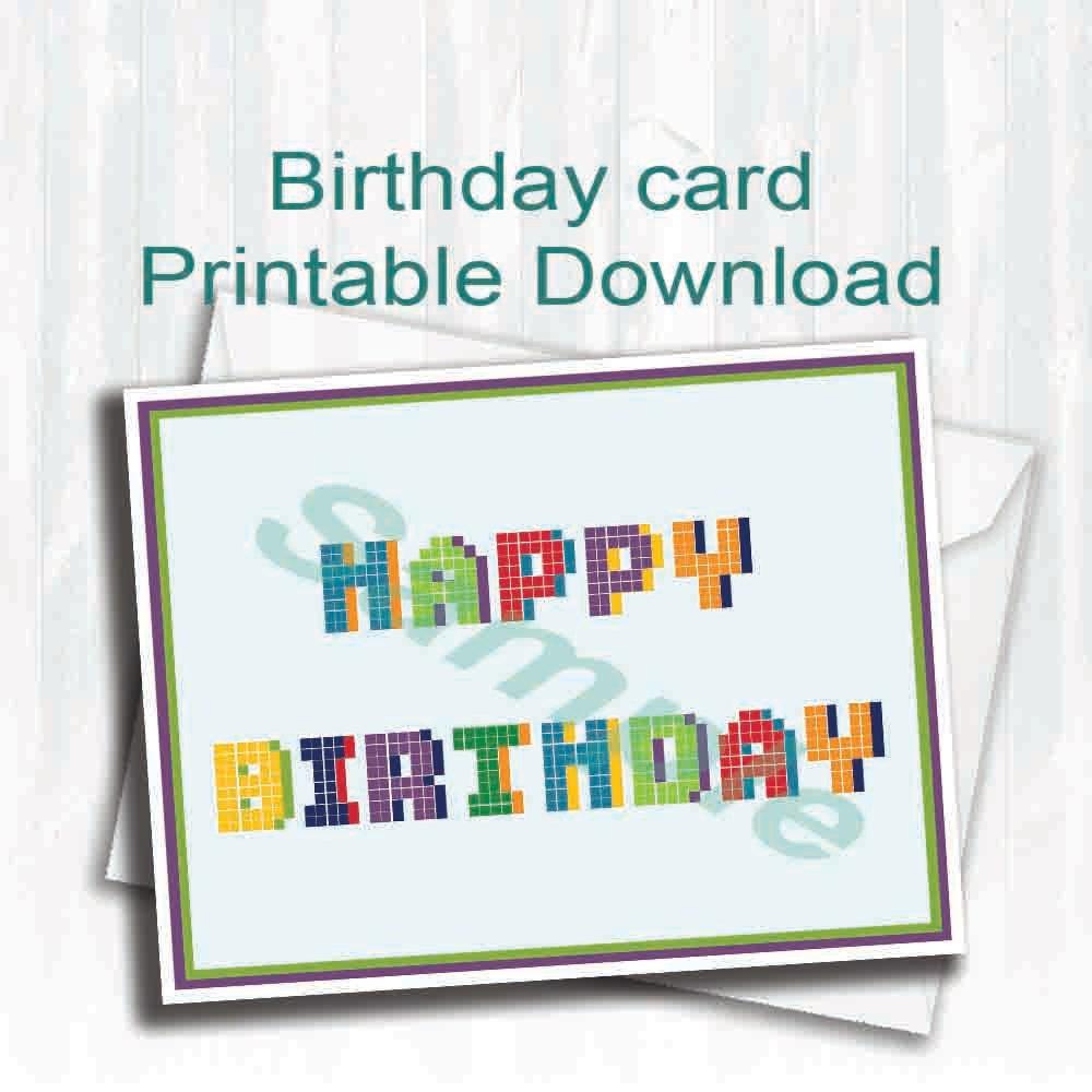 PixelBirthday CardHappy BirthdayDigital Download