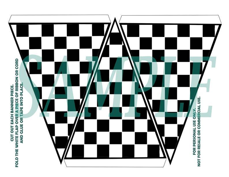 image relating to Checkered Flag Printable identified as Checkered flag banner. Birthday celebration, Printable obtain.