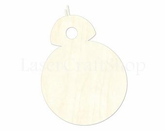 Star Wars Yoda Wooden Cutout Shape Tags Ornaments Laser Cut #1712 Silhouette