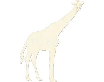 Tags Ornaments Laser Cut #1613 Giraffe Wooden Cutout Shape Safari Animal