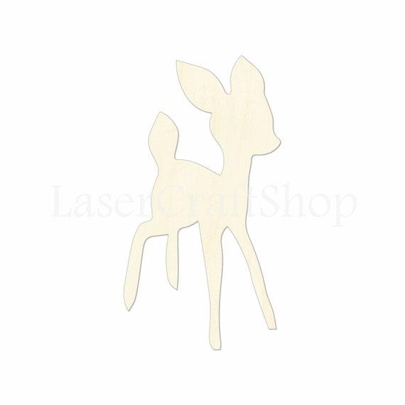 2 34 Bébé Chevreuil Bambi En Bois Découpe Forme Etsy