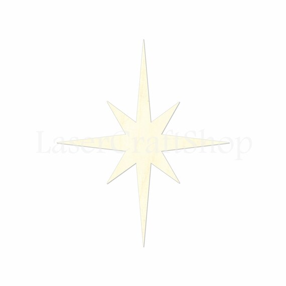 Christmas Star Silhouette.2 34 Christmas Star Cutout Shape Silhouette Gift Tags Ornaments Decoration Laser Cut Birch Wood 1347