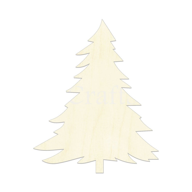Christmas Tree Cutout.2 34 Christmas Tree Wooden Cutout Shape Silhouette Gift Tags Ornaments Room Decoration Laser Cut Unfinished Wood 2693
