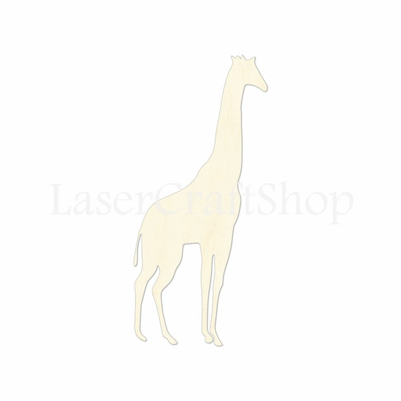 2 34 Giraffe Wooden Cutout Shape Silhouette