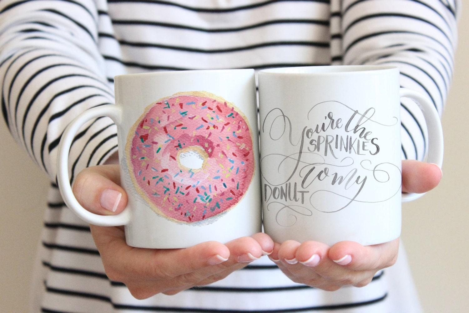 You\'re the Sprinkles to My Donut Mug Watercolor Donut | Etsy