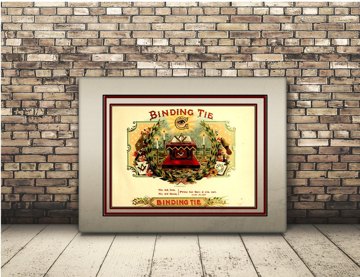 High Resolution Poster Digital Download of Vintage Cigar Box   Etsy