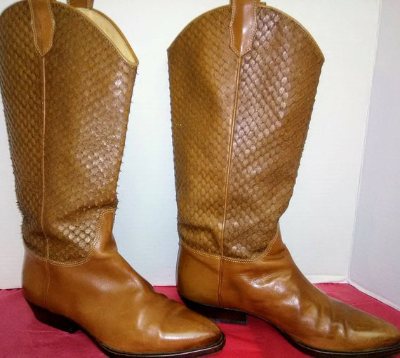 Vintage David & Joan Couture Buckskin Brown Boots