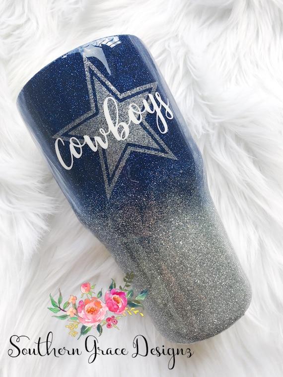 Dallas Cowboys Glitter Tumbler Glitter Yeti Cowboys Cup
