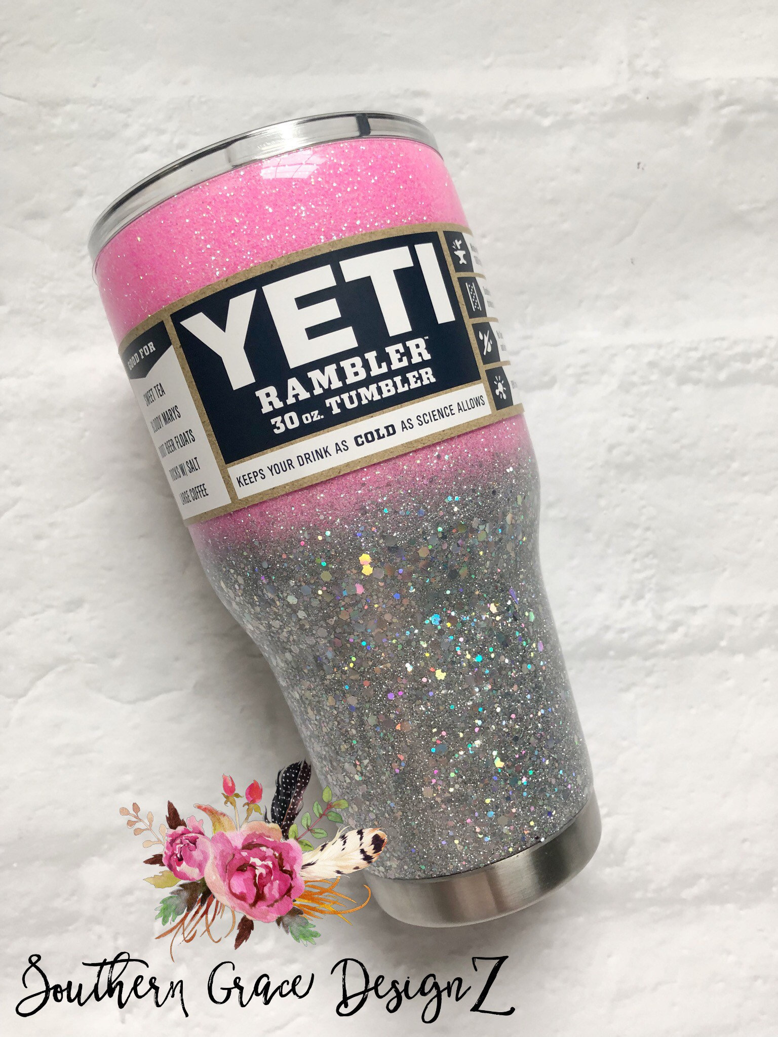 Bling Glitter Tumbler Glitter Yeti Bling Glitter Yeti Etsy