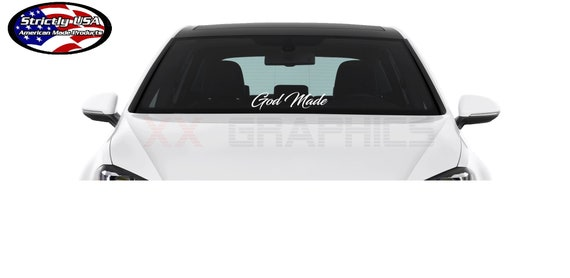 God Made Decal Sticker 23 Window Banner Jdm Trd Euro Vw Etsy