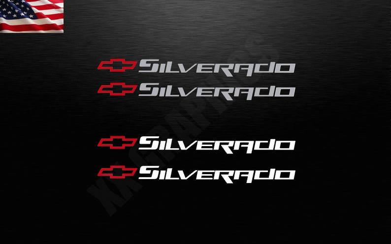 Chevy Silverado Chevrolet Logo Bowtie Decal Sticker Windshield Body Side Truck Window Bowtie