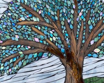 Guatemala textile Colourful Mosaic Wall Art