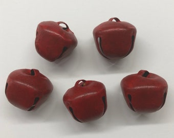 Set of five 30 mm painted bells