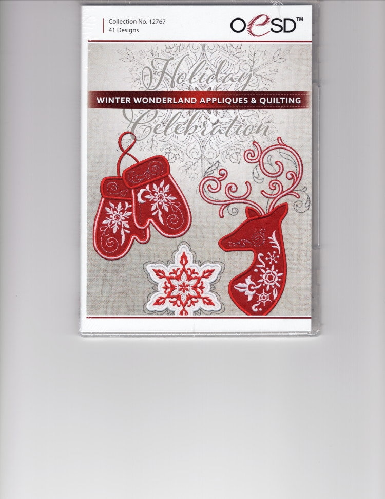 Coll #12767 Holiday Celebration Winter Wonderland  Applique and Quilting by OESD