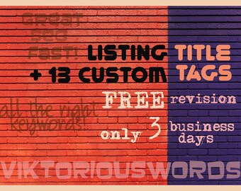 Etsy SEO Product Listing Title Tag Revision SEO Help Copy Writing Service Keywords Etsy Top Shop Search Optimization Product Marketing Tips