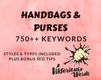 SEO Bags Keywords for Handbags Tags Popular Keyword How to Sell SEO Help Title Marketing Search Result Instagram Hashtag Best Seller etsy13