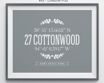 Housewarming Gift Our First Home Gift for Couple Personalized House Warming Gifts New Home Coordinates Print Home Address Sign Gift