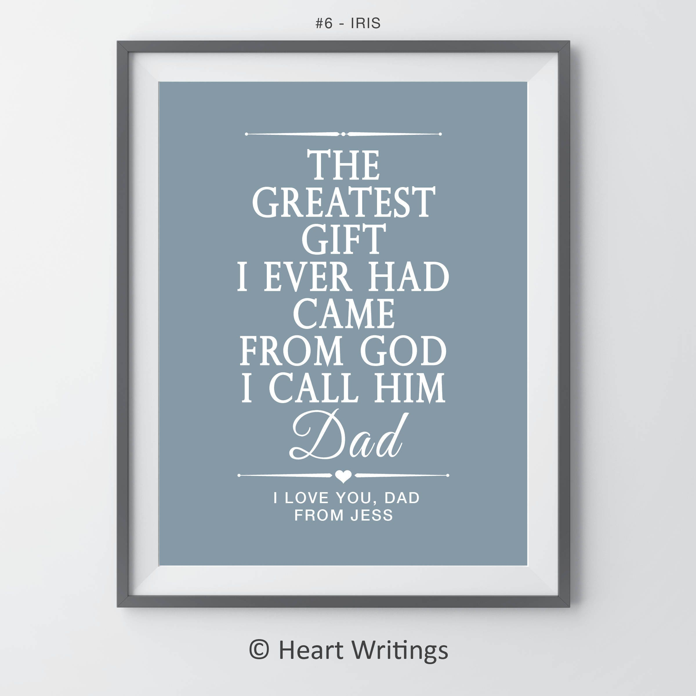 Father Daughter Gift For Dad Fathers Day Dads