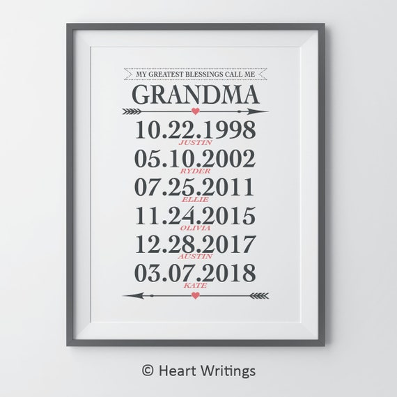 Oma Geschenk Meiner Größten Segnungen Nennen Mich Oma Enkel Geburtstagsgeschenke Weihnachtsgeschenke Für Oma Personalisierte Geschenke Oma Oma