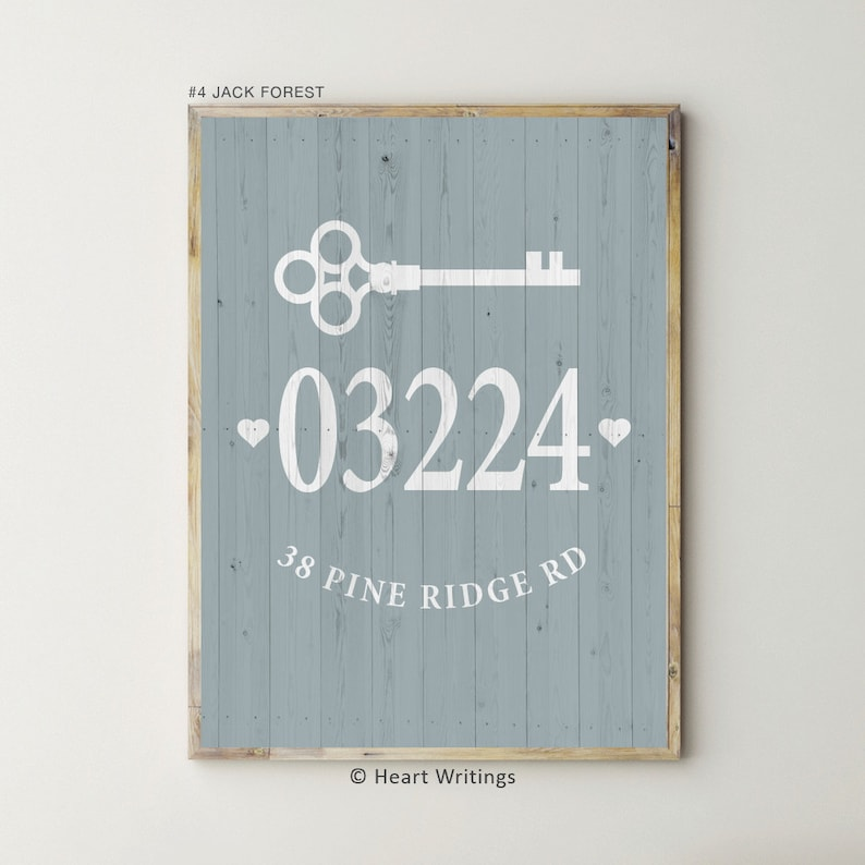 Address Sign Farmhouse Decor Housewarming Gifts Personalized Farmhouse Gifts Home Address Wall Decor First Home Gift for Friend