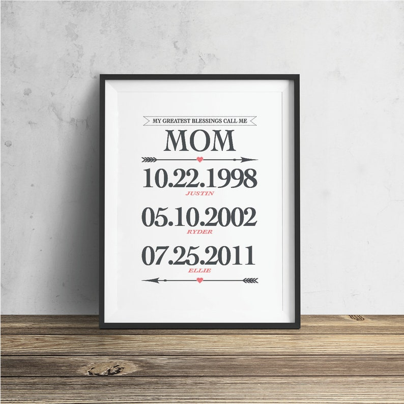 Mom Gift Ideas My Greatest Blessings Call Me Kids