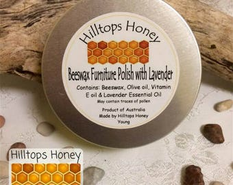 Lavender scented beeswax polish for timber