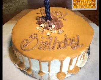 Handmade pure beeswax birthday candles