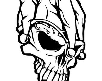 Skull Jester Vinyl Decal