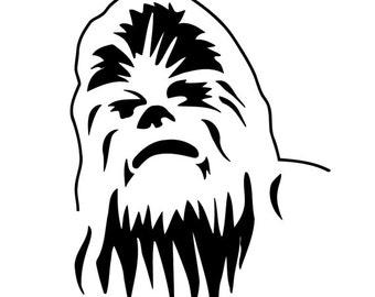 Star Wars Chewbacca Vinyl Decal