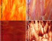 RED and Orange - Stained Glass and Mosaic Glass Pack (4 Sheets of 8X10) -