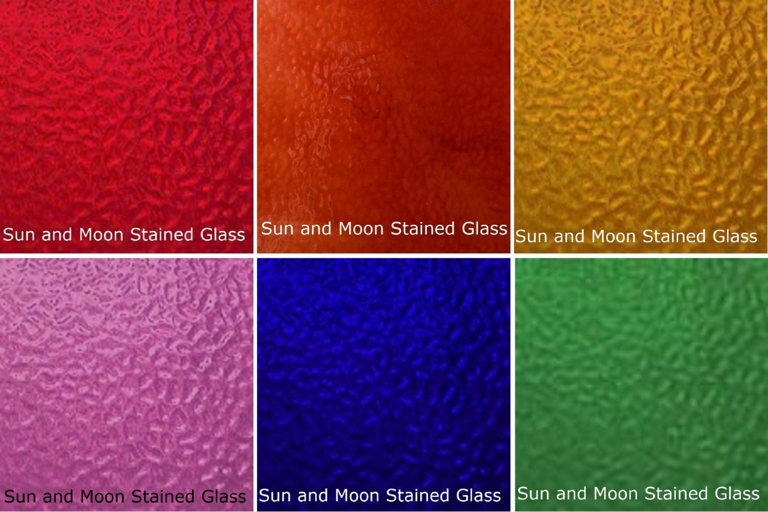 Wissmach Glass Stained Sheet Pack RAINBOW COLORS