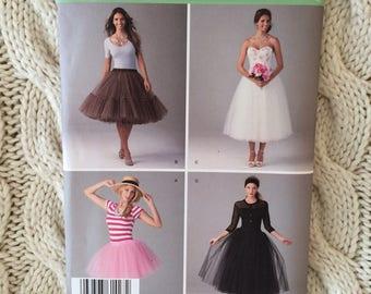 Sinplicity sewing pattern 1427 misses tulle skirts sizes 14-22
