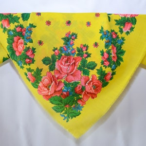 80s Vintage UkrainianRussian Shawl 100/% Wool Floral russian shawl Chale Russe Antique Shawl Folk Scarf Foulard Russe Scialle russo W006
