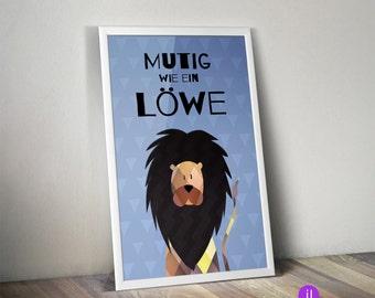 """A4 Kinder-Poster """"Mutig wie ein Löwe"""""""