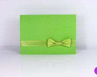 """Schleifchenkarte mit Umschlag """"Grün"""""""
